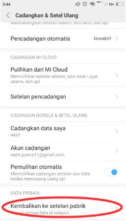 Cara Menghapus dan Menambahkan Akun Google Dari Hp Android Xiaomi