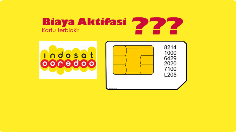 biaya aktifasi sim card terblokir