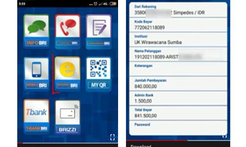 Cara Bayar Briva Dengan BRI Mobile