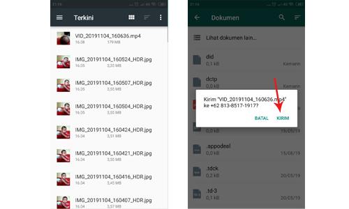 Cara Mengirim File Video Ukuran Besar Lewat Whatsapp