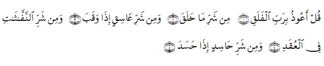Hukum Tajwid Surat Al Falaq