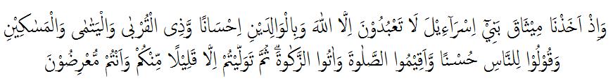tajwid surat al-baqarah ayat 83 lengkap