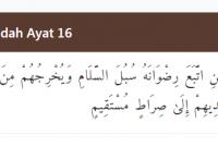 TAJWID SURAT AL-MAIDAH AYAT 16 LENGKAP