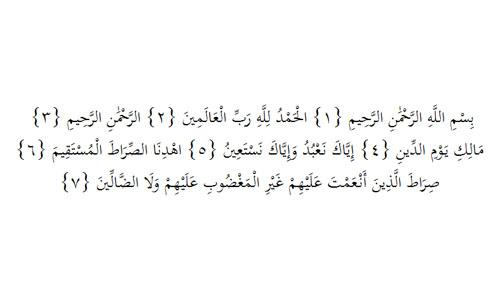 TAJWID SURAT AL FATIHAH AYAT 1-7